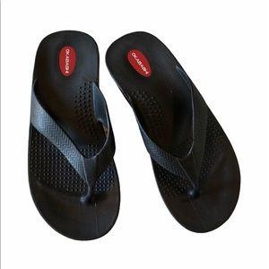 Okabashi Black Comfort Flip Flops L